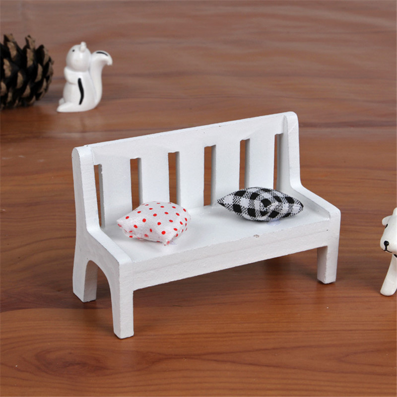 HOT Wedding Decorative Craft Desk Model Chair Figurines Miniature DIY Furniture Props Kids Toy Gift Home