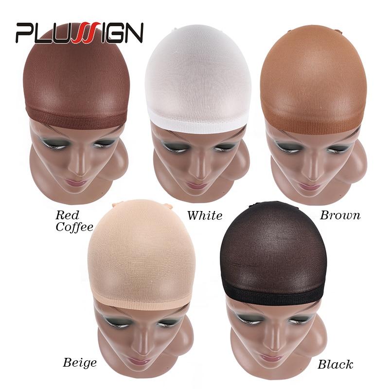 Wholesale Mesh Wig Cap Hair Net For Wigs 2 Pcs/Pack Beige Red Coffee Black Wig Net Cap Weaving Caps Unisex