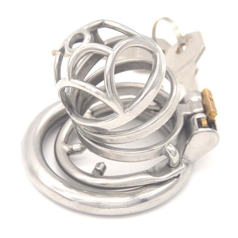 Newst Design Ventilation Cage Male Chastity Device with Penis Bondage Rings Cock Cage Chastity Lock for Men G7-245FNewst Design Ventilation Cage Male Chastity Device with Penis Bondage Rings Cock Cage Chastity Lock for Men G7-245F