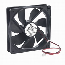 Gdstime 1 Piece Dual Ball 12cm DC 12V 120*120*25mm 0.45A 2Pin 12025 3300RPM Computer CPU Cooler PC Case Cooling Fan 120mm x 25mm