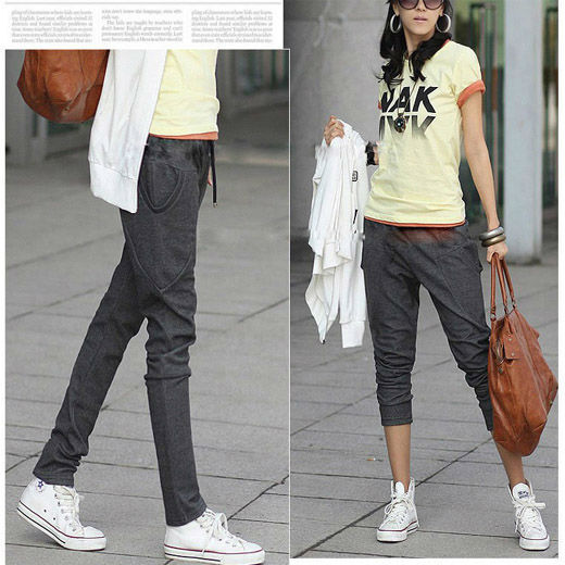 New Fashion Women's Ladies Mid Rise Skinny Jeans Pencil Pants Cotton Casual Leggings Trousers Pants Free Shipping 0173