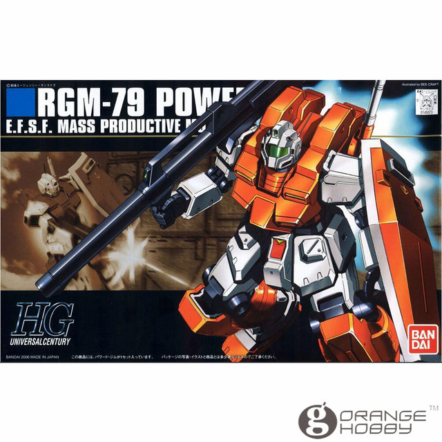 fe390dae5415 OHS Bandai HGUC 067 1 144 RGM-79 Powered GM Mobile Suit Assembly Model Kits