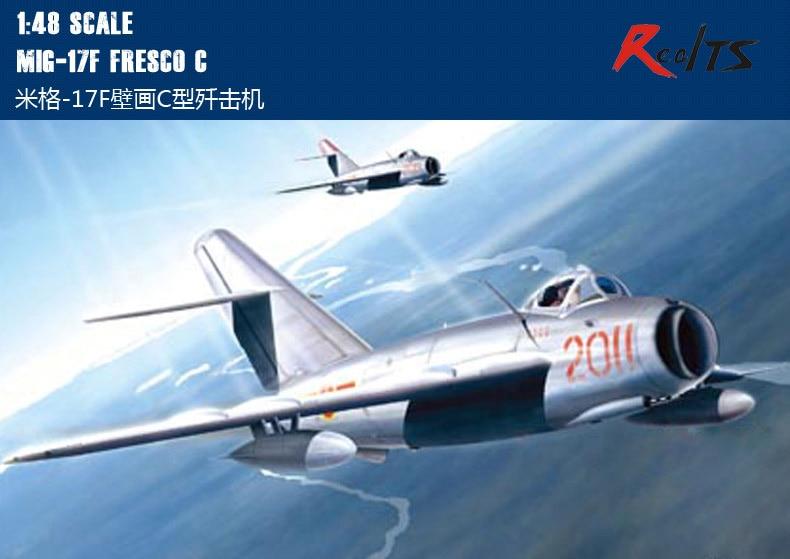 RealTS Hobby Boss 80334 1:48 - MiG-17F Fresco C Aircraft Kit Hobbyboss