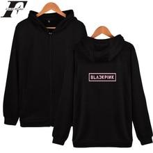 Cotton harajuku Hip Hop BLACKPINK Kpop Zipper Style Hoodies Men/Women sweatshirt winter tracksuit Streetwear clothing