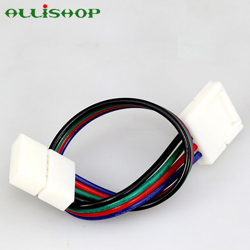ALLiSHOP <font><b>5050</b></font> RGB LED Strip Light conector extension cable adapter 4 Pin Conductor <font><b>10</b></font> mm Wide Strip to Strip Jumper image