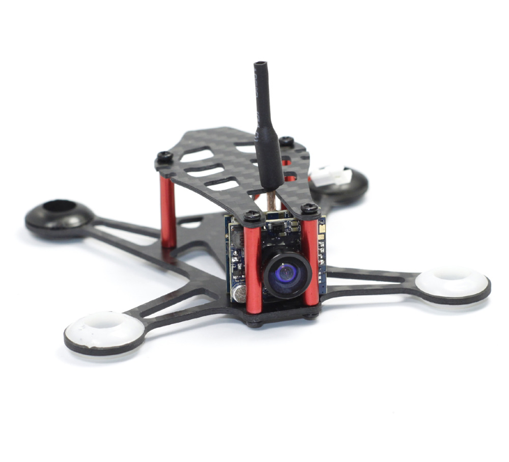 HOBBYMATE Micro Indoor fpv Quadcopter 95mm Carbon Fiber Frame Kit - Support 8520 Motor 1S and 2S micro racing quadcopter kit carbon fiber quadcopter frame 90mm wheelbase support 1104 1106 brushless motor hobbymate