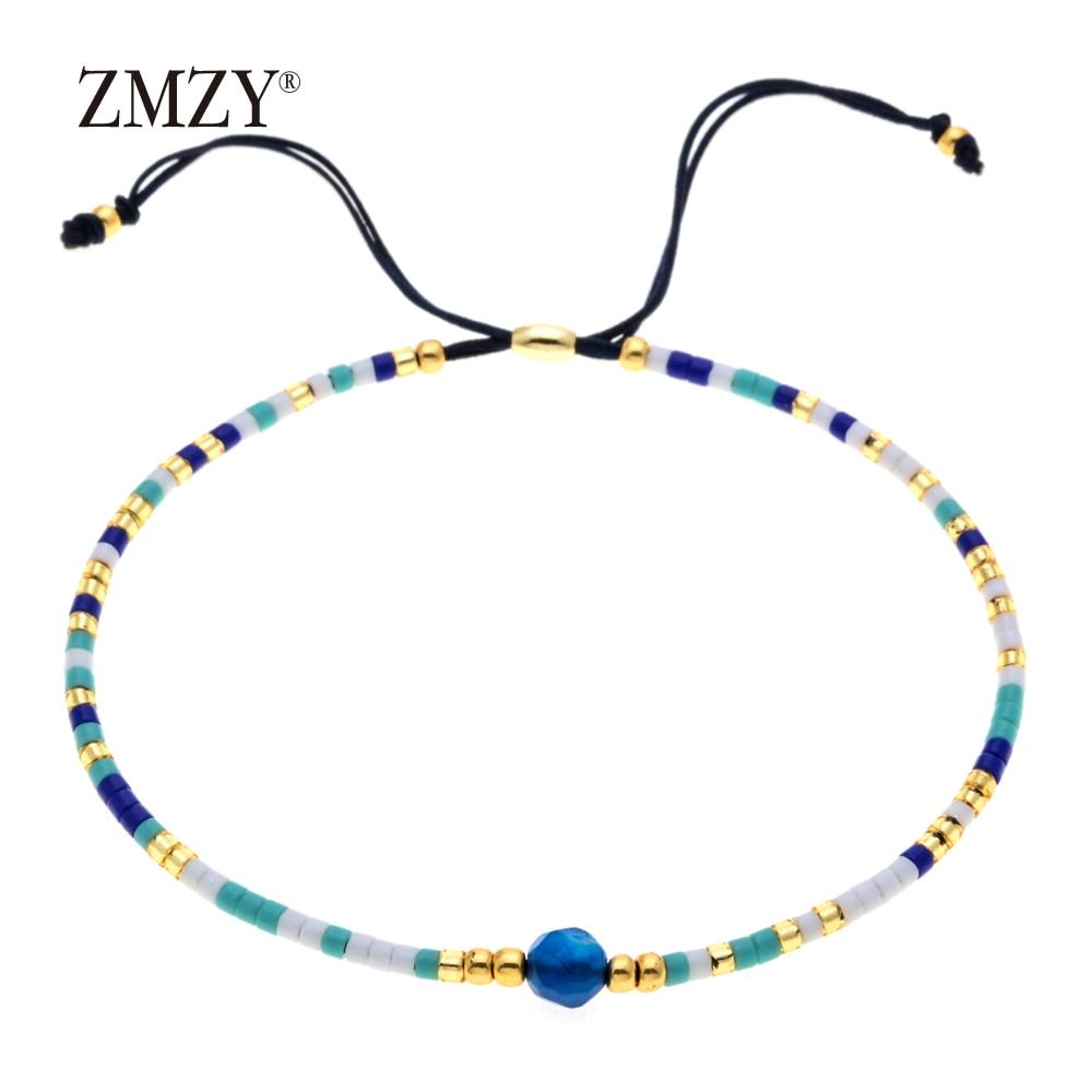 ZMZY Miyuki Delica, бисер, женские браслеты, ювелирные изделия дружбы, модные, сделай сам, Bijoux Femme, простые браслеты, Прямая поставка - Окраска металла: QSSL003-13