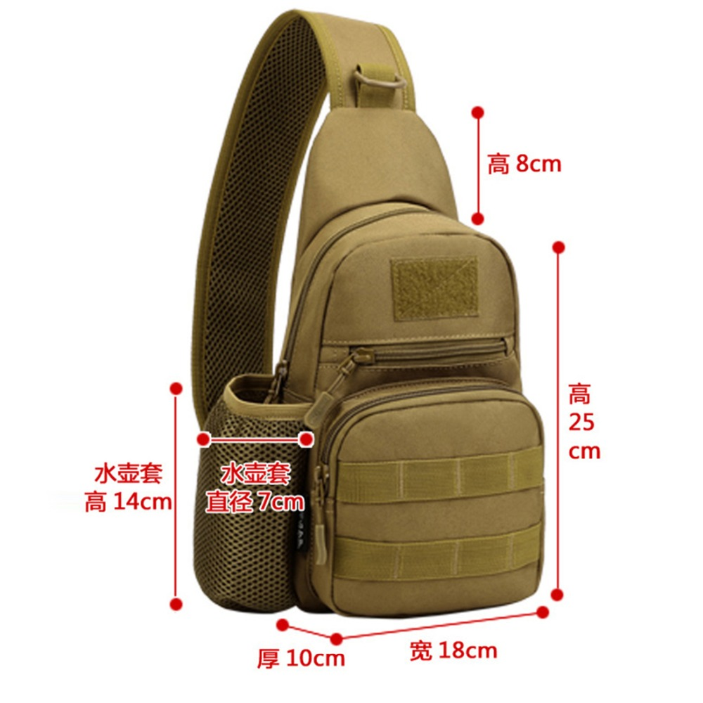 Sports & Entertainment Camping & Hiking Responsible Men 1000d Nylon Chest Back Day Pack Sling Rucksack Military Designer Travel Assault Shoulder Cross Body Waterproof Kettle Bags Easy To Use