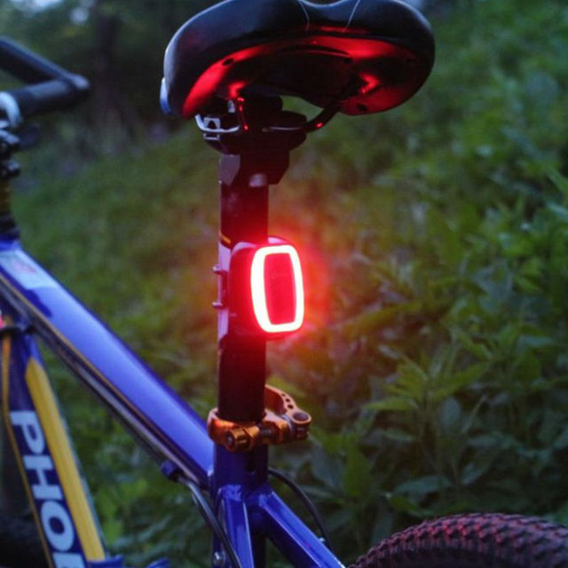Smart Bicycle Taillight Light Bike Light LED Bike and Vribration 7 Flash Modes 4 Color Bike Bicycle Accessories