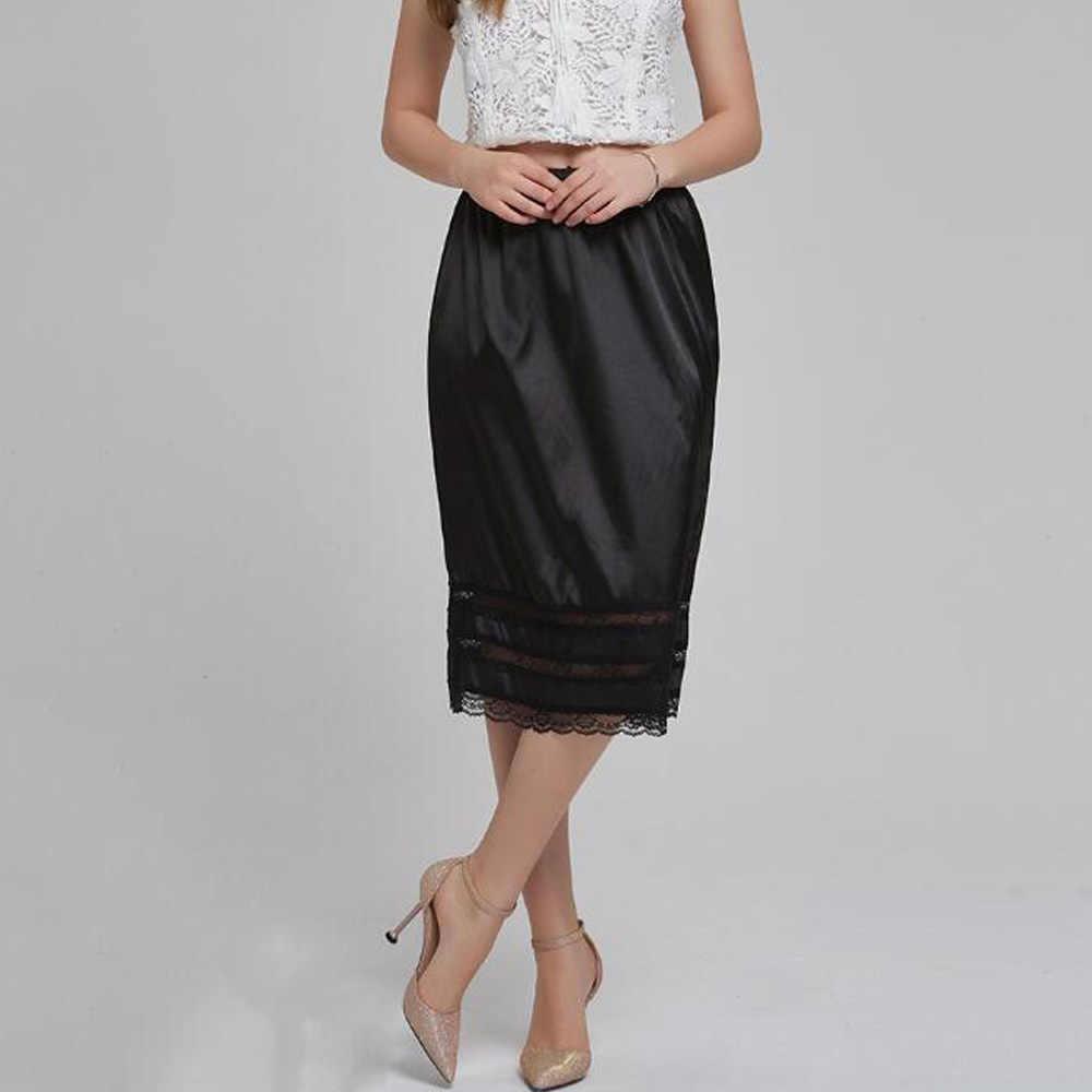Women Half Slip Skirt Cotton Lace Underskirt Petticoat Under Dress Midi