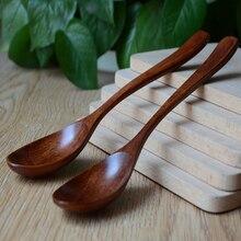 Набор деревянной ложки, Бамбуковая кухонная посуда, инструмент для приготовления супа, чайная ложка, детская посуда, рисовая ложка, принадлежности