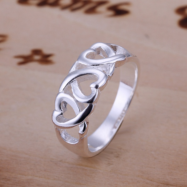 hot sell factory price Silver color Wedding weomen lady Ring , Jewelry nice cute charming fashion Free shipping R090 1