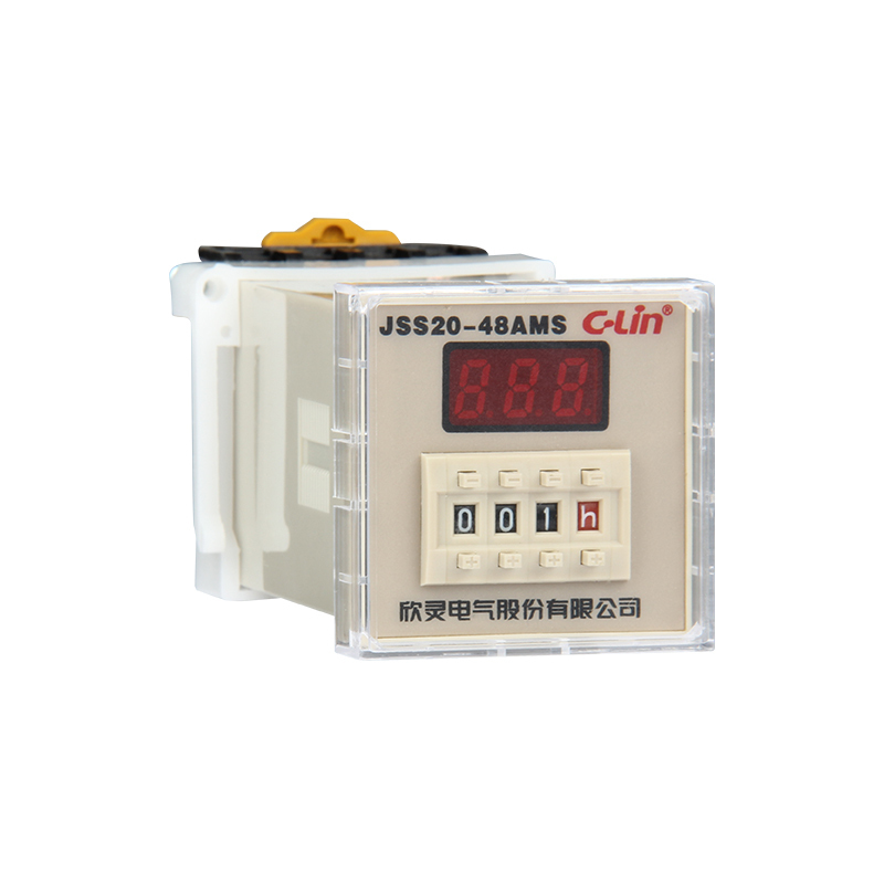 JSS20-48AMS Number Show Time Relay 0.01S-9990H Time Base Adjustable AC220V Goods In Stock цена