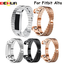 New Luxury Genuine watchband Double circle Watch Bracelet Band Strap For Fitbit Alta HR/Fitbit Alta Watch Straps belt wristband все цены