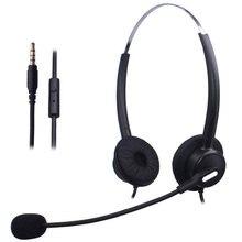 Wantek 3.5mm Jack casque de téléphone portable avec micro d'annulation de bruit Flexible pour Apple iPhone LG HTC Samsung Galaxy téléphones Android