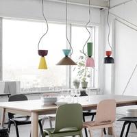 Colorful Simple Design Can Be Customized E27 Pendant Light Suspension Drop Lamp Modern Bulbs Bar Restaurant