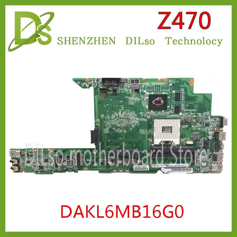KEFU Z470 motherboard For Lenovo Z470 laptop mainboard DAKL6MB16G0 REV:G 2DDR3 test work motherboardKEFU Z470 motherboard For Lenovo Z470 laptop mainboard DAKL6MB16G0 REV:G 2DDR3 test work motherboard