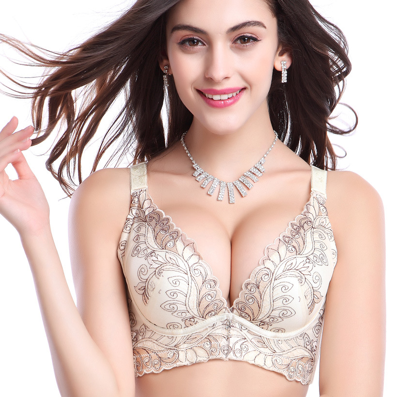 Sexy Lace Push Up Bra For Girls Women Push Up Bra Lace Backless ...