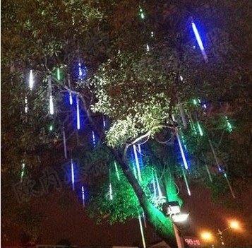 Led météores lumières 3528-78 leds 80 cm 2 w/pc Led météore pluie Tube ensemble éclairage chaîne vacances étanche 50 pcs/lot