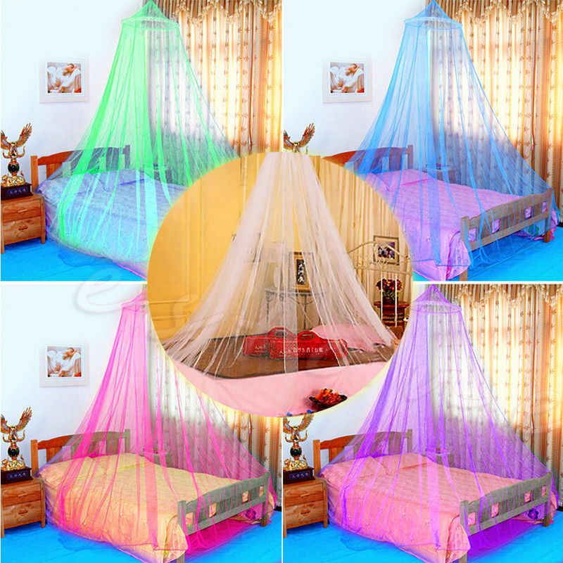 Portable Mosquito Net Bed Queen Size Home Bedding Lace Canopy Elegant Netting Princess Fly Insect Protection