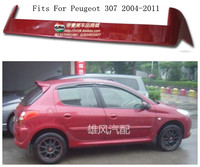ABS Car Rear Wing Trunk Lip Spoilers Fits For Peugeot 307 2004.2005.2006.2007.2008.2009.2010.2011 BY EMS