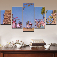 Poster Canvas Painting Wall Modular Pictures 5 Panel Movie Cartoon Character For Living Room Decorative Pictures