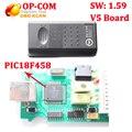 Лучший v1.59 с PIC18F458 CAN BUS OBD2 OP-COM OP COM OPCOM диагностический инструмент для opel op-com V5 V5 доска с бесплатным корабль