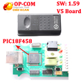 Best OP COM v1.59 with PIC18F458 CAN BUS OBD2 OP-COM V5 OPCOM diagnostic-tool for opel op-com V5 board with free Ship