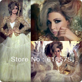 Two Pieces A Line Arabia Myriam Fares Luxury Celebrity Dresses With Jacket Floor-Length
