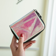 цены на New Women Wallet Clutch Laser Women Short Wallet Fashion Zipper Wallets More Screens Card Holder Purse Student wallet card bag  в интернет-магазинах