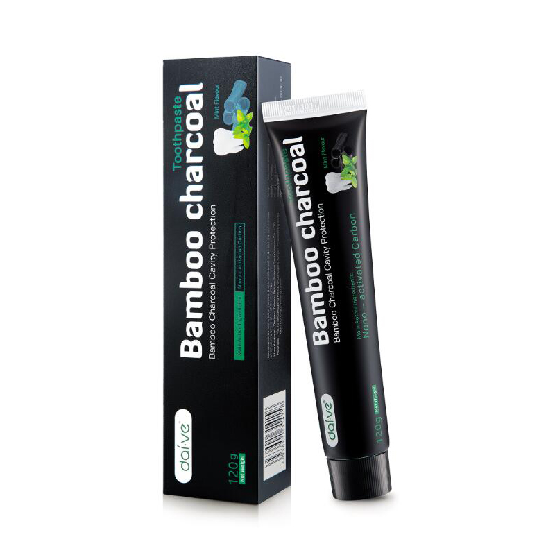 Natural Teeth Whitening Toothpaste Actived Bamboo Charcoal Tooth paste Carbon Coconut Toothpaste Set with Toothbrush 2