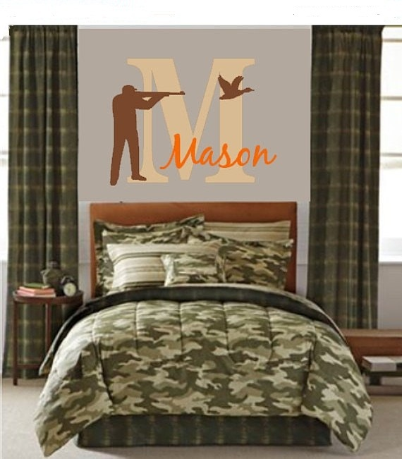 hunting wall decal hunting decor boy nursery antlers hunting nursery boys - Hunting Bedroom Decor