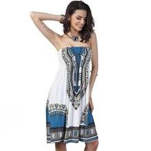 2016 Summer Women Dress Sexy Lady Printing Sleeveless Dresses Off Shoulder Loose Milk Silk Bohemian Dress vestidos