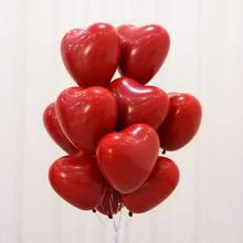20 pçs/lote romântico 10 Polegada amor coração látex hélio balões decoração de casamento globos dia dos namorados feliz aniversário festa ballon