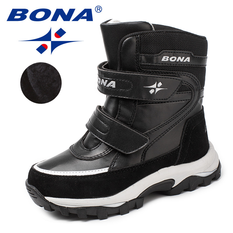 BONA New Arrival Classics Style Children Boots Hook & Loop Boys Winter Shoes Round Toe Girls Snow Boots Light Free ShippingBONA New Arrival Classics Style Children Boots Hook & Loop Boys Winter Shoes Round Toe Girls Snow Boots Light Free Shipping