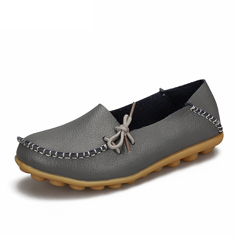 Soft Leisure Flats Women Leather Shoes Moccasins Mother Loafers Casual Female Driving Ballet Footwear 3