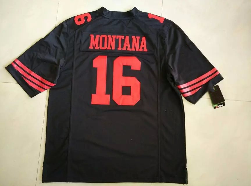 new arrival 3b73c 7123a black and red joe montana jersey
