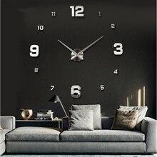 New Wall Clock Clocks Watch Horloge Murale Diy 3d Acrylic Mirror sticker Large Home Quartz Circular