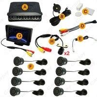 Car 10colors 4 3 LCD Monitor 8 Sensor Parking Sensor 2x Mini CCD Camera Dual Visual
