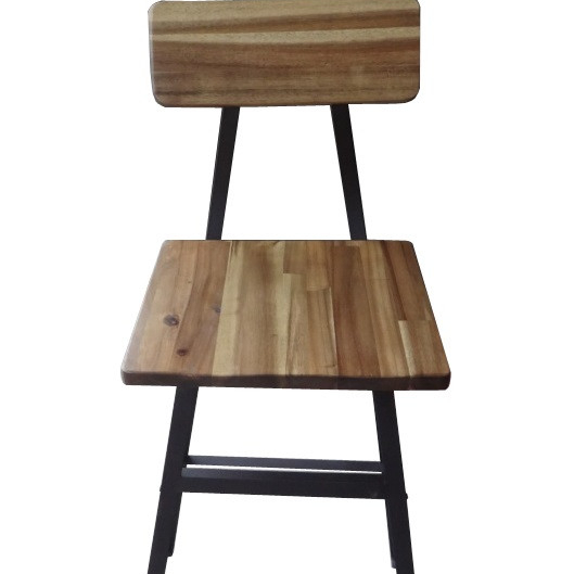 Lilinden природных окрашенных ламинирования Акация барный стул (набор из 2)