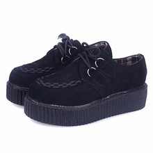 Quanzixuan Creepers Women Shoes Fashion Flats Casual Platfor