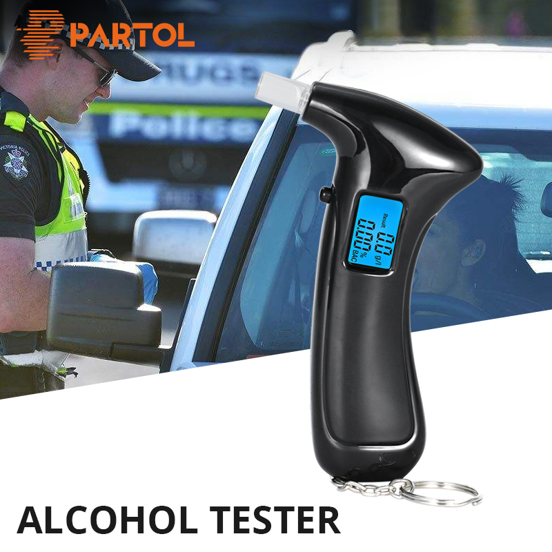 Partol Digital Alcohol Breath Alcohol Tester Portable Professional Accurate LED LCD Breath Alcohol Tester Parking Breathalyser portable integrated circuit tester ic tester transistor tester online maintenance digital led ic tester