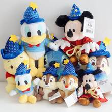Cartoon Mickey Mouse Stitch Donald Duck Winnie Bear Chip 'n' Dale Squirrel Magician Wizard Plush toy Stuffed Animals Doll Gifts(China)
