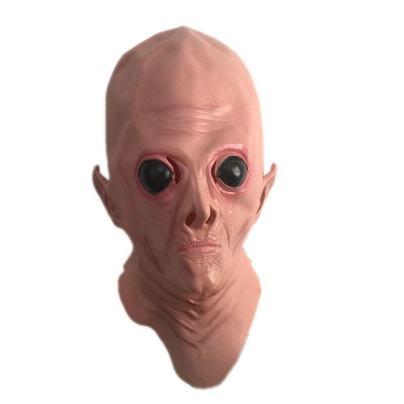 UFO Alien Full Head Horor Maska Realistické Terestrial ET Latexové masky Dospělý Halloween Maškarní Party Cosplay Kostýmy rekvizity