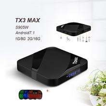 TanixTX3 max Android 7.1 smart tv box Amlogic S905w Quad core ARM Cortex-A53Mali-450 penta-core,up to 750MHz set box pk tx3 mini