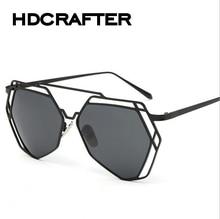 Fashion 2016 Sunglasses Women HDCRAFTER Brand Design Vintage Sun Glasses  UV400 Female Eyewear oculos de sol