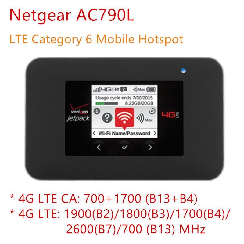 Débloqué Netgear AC791L Verizon Jetpack 4G LTE Hotspot Mobile AC791 4g lte routeur industriel 4340 mah batterie wifi routeur 4g sim