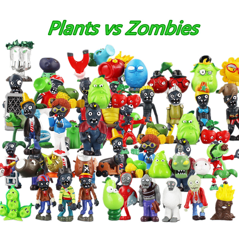 9 style 5 10cm plants vs zombies toy pvc collection plants for Cuartos decorados de plants vs zombies