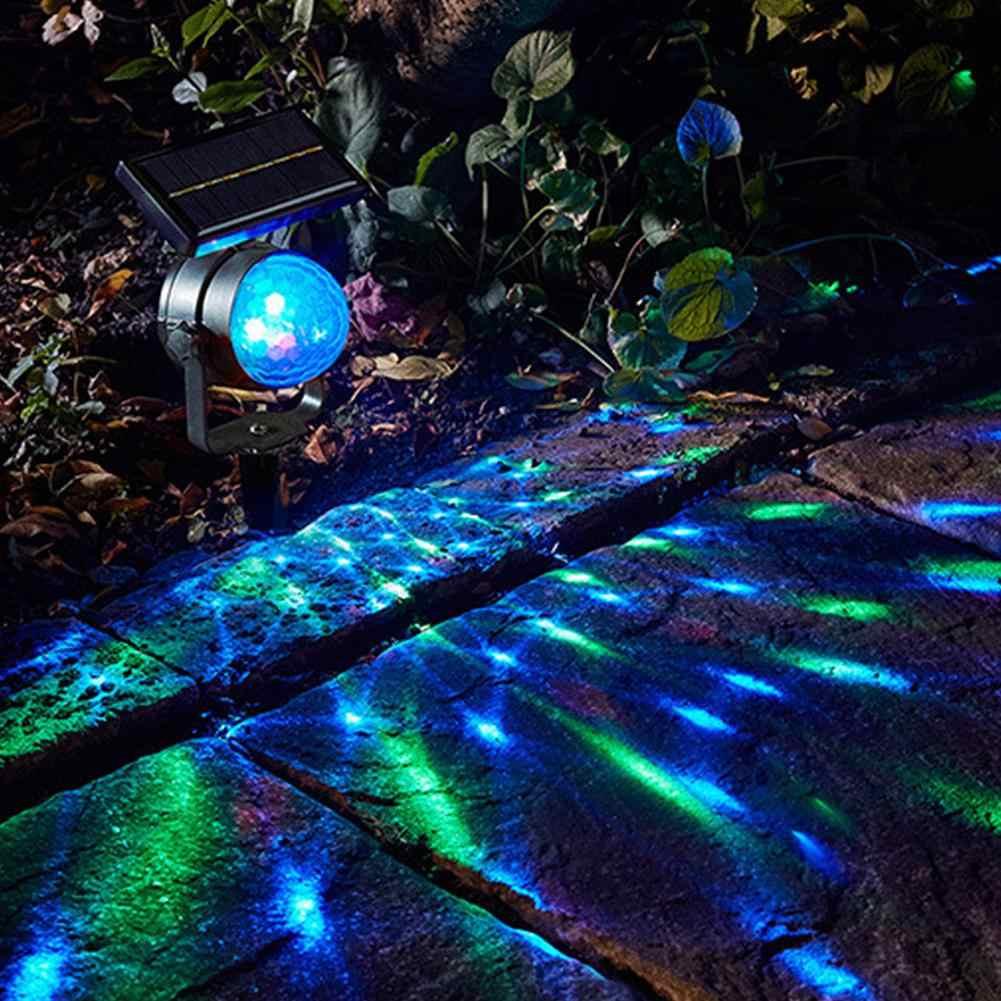 Hobbylan Солнечный светодиодный вращающийся красочный проекционный светильник датчик звука волшебный шар ярд сад праздничное свадебное оформление