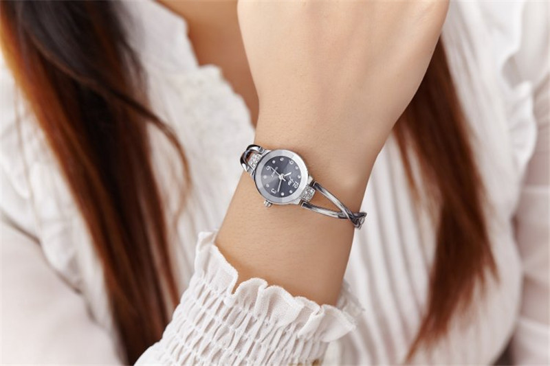 New Fashion Rhinestone Watches Women Luxury Brand Stainless Steel Bracelet watches Ladies Quartz Dress Watches reloj mujer Clock 9